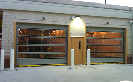 High speed car dealer carwash doors for Coil porte rapide